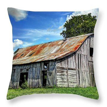 The Old Adkisson Barn Throw Pillow