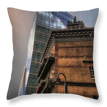 Throw Pillow featuring the photograph The Old And The New by Jim Hill