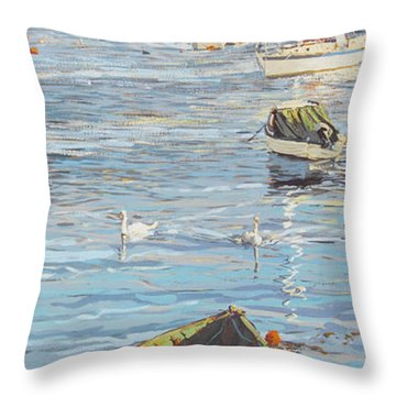 The Old And The New Throw Pillow by Martin Decent