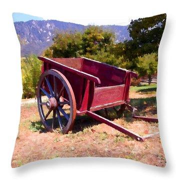 The Old Apple Cart Throw Pillow