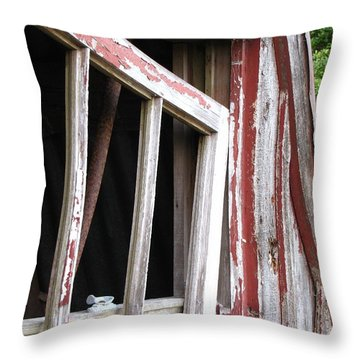 Throw Pillow featuring the photograph The Old Barn by Beth Vincent