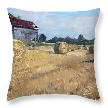 The Old Barns In Georgetown On Throw Pillow by Ylli Haruni