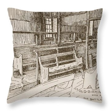 The Old Birmingham Meeting House, 1893 Throw Pillow by Walter Price