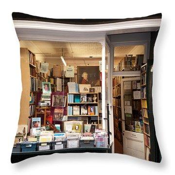 The Old Bookshop Throw Pillow