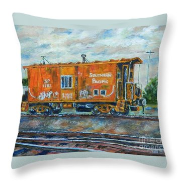 The Old Caboose Throw Pillow