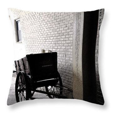 Throw Pillow featuring the photograph The Old Cart From The Series View Of An Old Railroad by Verana Stark
