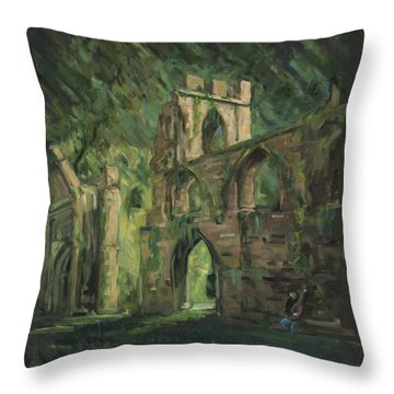 The Old Castle Throw Pillow by Marco Busoni