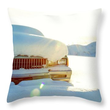 The Old Chevy Throw Pillow by Alanna DPhoto