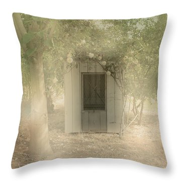 The Old Chook Shed Throw Pillow