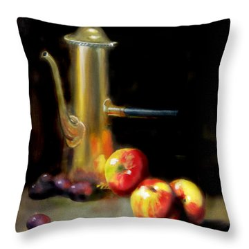 The Old Coffee Pot Throw Pillow by Barry Williamson