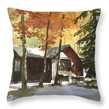 The Old Cottage Throw Pillow by Kris Parins