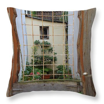 Memories Made Beyond This Old Door Throw Pillow