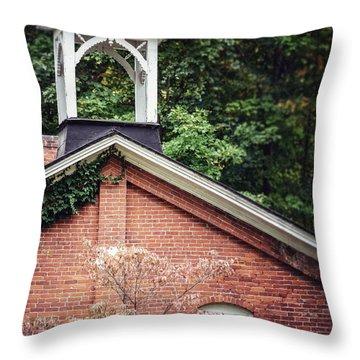 Brick Schools Throw Pillows