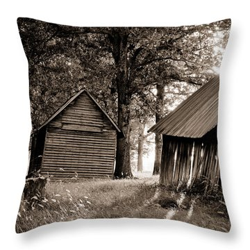 The Old Farm At Sunrise Throw Pillow