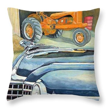The Old Farm Throw Pillow by Rick Huotari