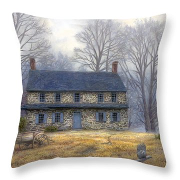 The Old Farmhouse Throw Pillow by Chuck Pinson