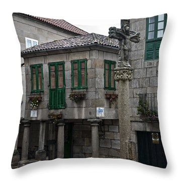 The Old Firewood Marketplace Throw Pillow