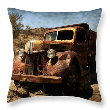The Old Ford Throw Pillow