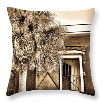 The Old Fort-sepia Throw Pillow