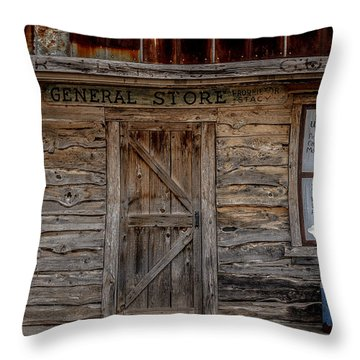 The Old General Store Throw Pillow by Doug Long