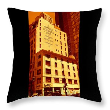 The Old Good Days In Manhattan Throw Pillow