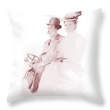 The Old Gray Mare Throw Pillow