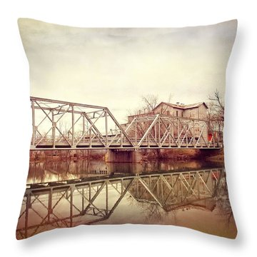 The Old Grist Mill Throw Pillow by Lena Wilhite