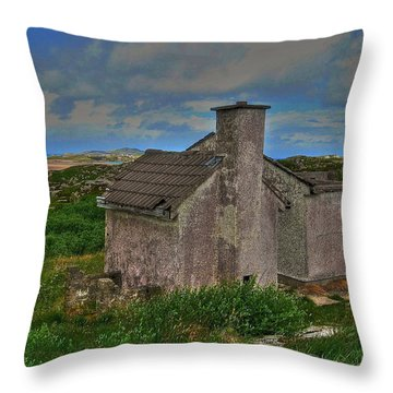 The Old Hilltop Throw Pillow by Kandy Hurley