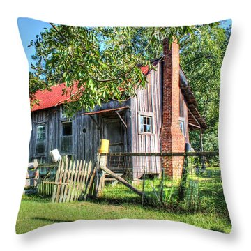 Throw Pillow featuring the photograph The Old Home Place by Lanita Williams