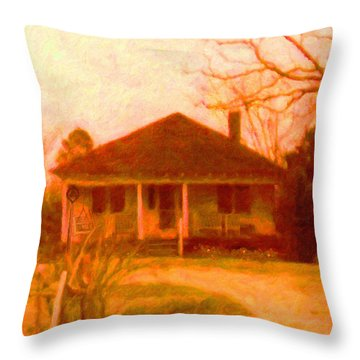 The Old Home Place Throw Pillow by Rebecca Korpita