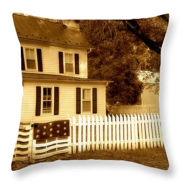 The Old Homestead Throw Pillow