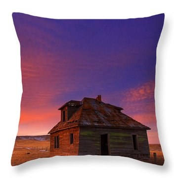 Throw Pillow featuring the photograph The Old House by Kadek Susanto