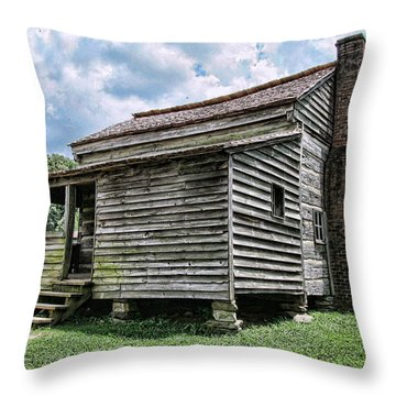 Throw Pillow featuring the photograph The Old House by Victor Montgomery