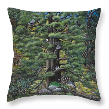 The Old Juniper Tree Throw Pillow