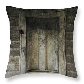 The Old Lowman Door Throw Pillow by Brian Wallace