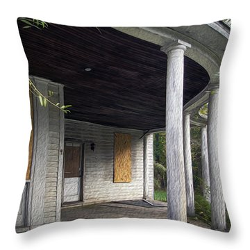The Old Lowman Place Throw Pillow by Brian Wallace
