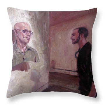The Old Man And Me Throw Pillow