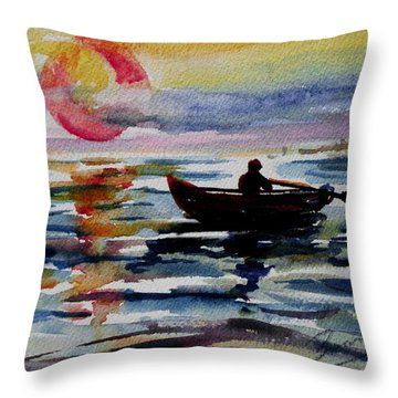 The Old Man And The Sea Throw Pillow by Xueling Zou