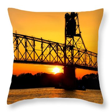 The Old Mighty Span Throw Pillow by Olivier Le Queinec