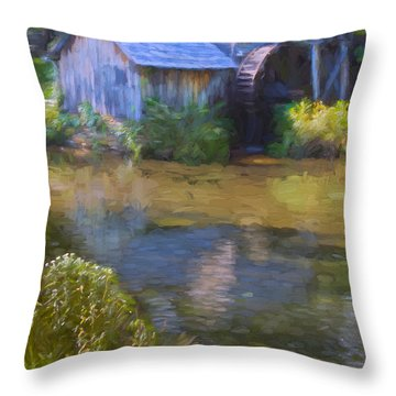 The Old Mill At Mabry Throw Pillow