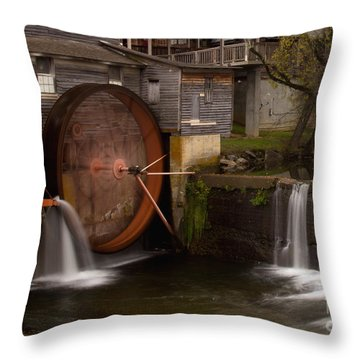 The Old Mill Detail Throw Pillow