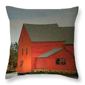 The Old Mill Kirby Pond Throw Pillow by Diana Angstadt