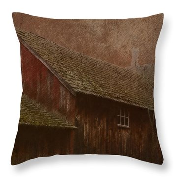The Old Mill Throw Pillow by Photographic Arts And Design Studio