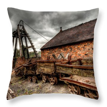 The Old Mine Throw Pillow