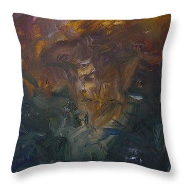 The Old Monarch Throw Pillow