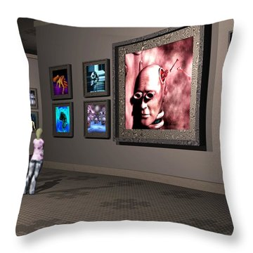 Throw Pillow featuring the digital art The Old Museum by John Alexander