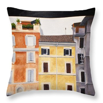 The Old Neighborhood Throw Pillow by Karin Thue