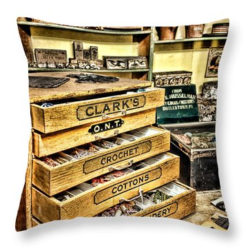 The Old Notions Shop Throw Pillow