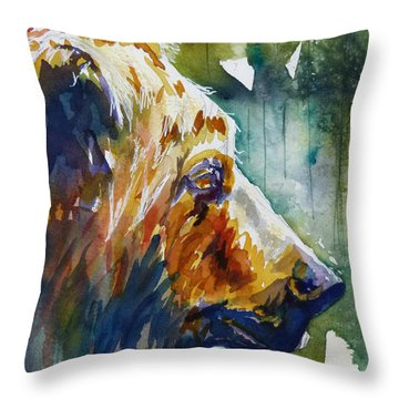 Throw Pillow featuring the painting The Old One by P Maure Bausch