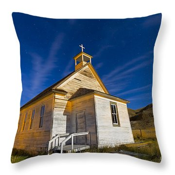 The Old Pioneer Church In Dorothy Throw Pillow